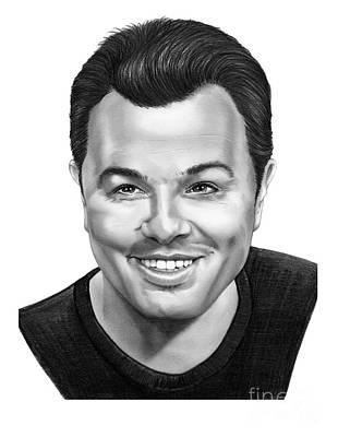 Famous People Drawing - Seth Macfarlane by Murphy Elliott