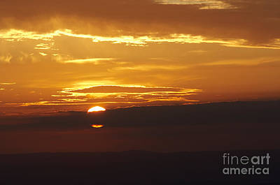 Setting Sun Behind A Cloud Print by Michal Boubin