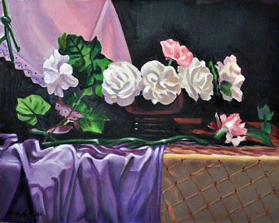 Phil Hopkins Painting - Seven Carnations by Phil Hopkins