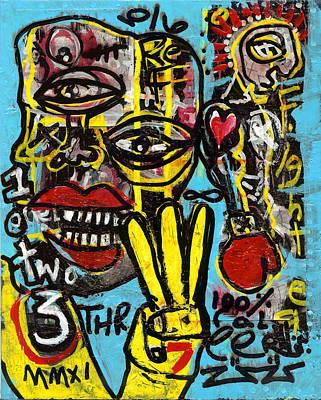 Boxer Mixed Media - Seven Left by Robert Wolverton Jr