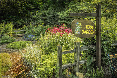 Seven Ponds Nature Center Herb  Garden Print by LeeAnn McLaneGoetz McLaneGoetzStudioLLCcom