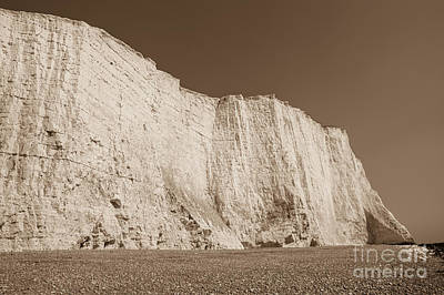 Sepia Chalk Photograph - Seven Sisters Cliffs 26 by Marcin Rogozinski