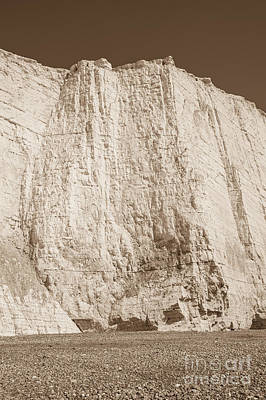Sepia Chalk Photograph - Seven Sisters Cliffs 28 by Marcin Rogozinski