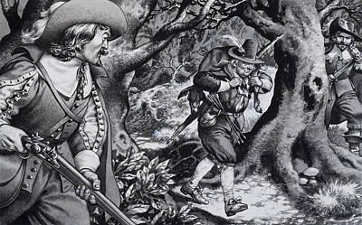 Seventeenth Century Poacher Print by Pat Nicolle