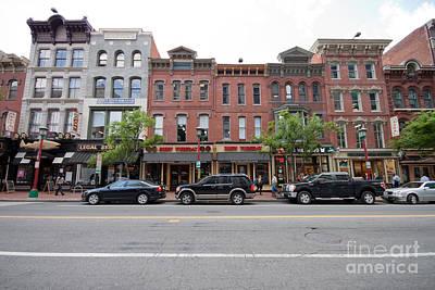 Seventh Street Penn Quarter Washington Dc Print by Thomas Marchessault