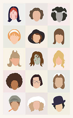 Seventies Movie Chicks Print by Mitch Frey