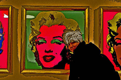 Severe Ordeals. Selfie With Marilyn Monroe. Print by Andy Za