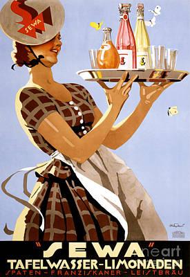 Sewa German Vintage Poster Restored Print by Carsten Reisinger