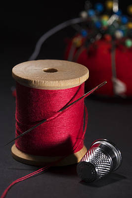Sewing Equipment - Needle And Thread Print by Donald Erickson