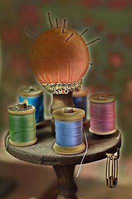 Sewing Fancy Print by Christine Lantz