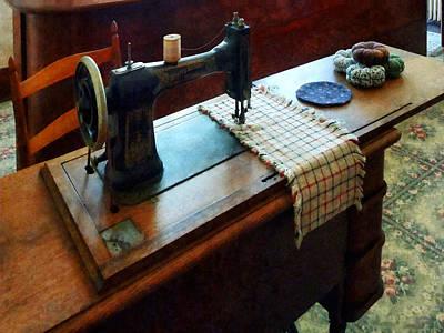 Sewing Machine And Pincushions Print by Susan Savad