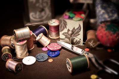 Buttons Photograph - Sewing Notions I by Tom Mc Nemar