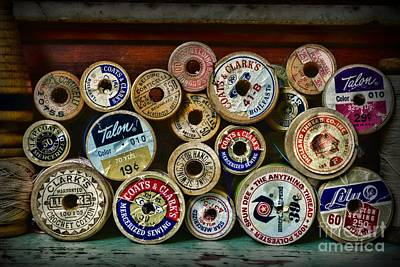Sewing Spools Remember Them Print by Paul Ward