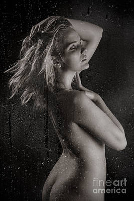 Washing Hair Photograph - Sexy Hot Shower by Jt PhotoDesign