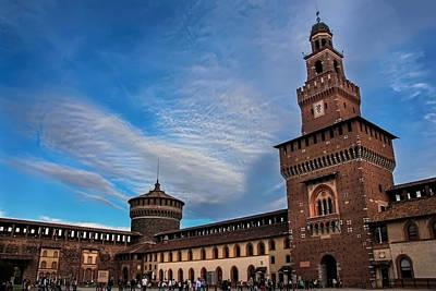 Old Milano Photograph - Sforzesco Castle Milan  by Carol Japp
