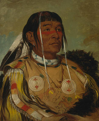 George The Painter Painting - Sha-co-pay, The Six, Chief Of The Plains Ojibwa by George Catlin