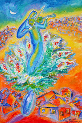 Jerusalem Painting - Shabbat Shalom by Leon Zernitsky
