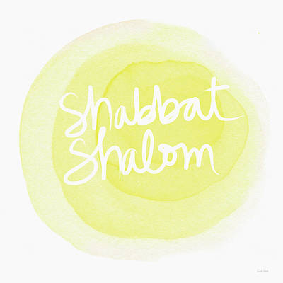 Shabbat Shalom Sun Drop - Art By Linda Woods Print by Linda Woods
