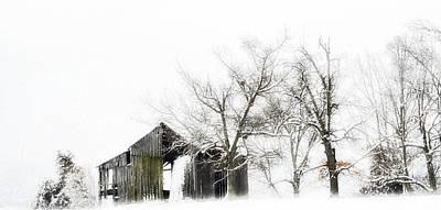 Shabby Barn Print by Kathy Jennings