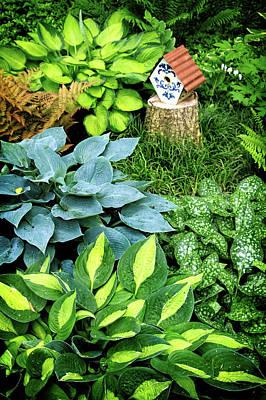 Shade Garden Print by Carolyn Derstine