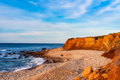 Beach Photograph - Shader Cove , Montauk by Linda Pulvermacher