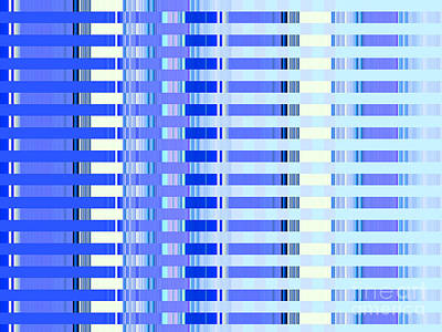 Shades Of Blue Highrise Print by Ann Johndro-Collins