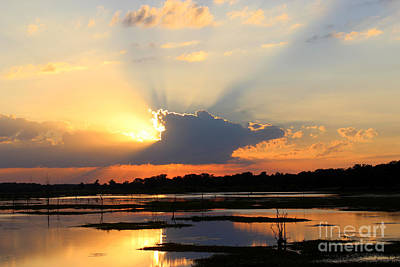 Shades Of Sunsets Print by Kathy  White