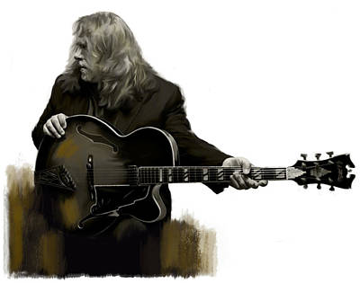 Music Drawing - Shades Of Tone Iv Warren Haynes  by Iconic Images Art Gallery David Pucciarelli
