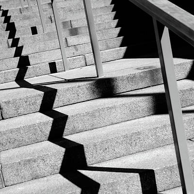 Digital Art - Shades On Stairs by Toppart Sweden