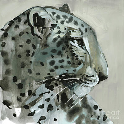 Leopard Drawing - Shadow by Mark Adlington