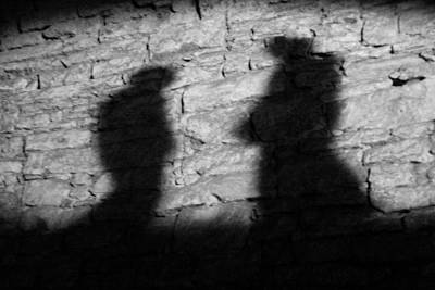 Haunted Photograph - Shadow On The Wall by Christine Till