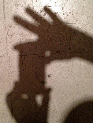 Shadow Selfie Print by Ron Regalado
