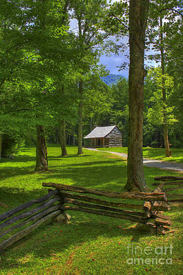 Carter Photograph - Shadows In Time Cades Cove by Reid Callaway