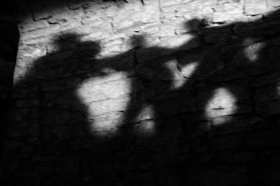 Surreal Photograph - Shadows On The Wall Of Edinburgh Castle  by Christine Till