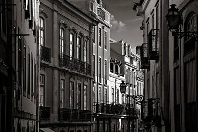 Ornate Photograph - Shadowy Old Lisbon by Carol Japp