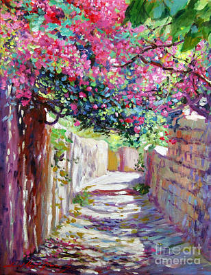 Greek Painting - Shady Lane Greece by David Lloyd Glover