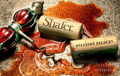 Selecting Photograph - Shafer Hillside Select Uncorked by Jon Neidert
