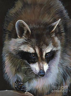 Raccoon Mixed Media - Shaken Not Stirred by J W Baker