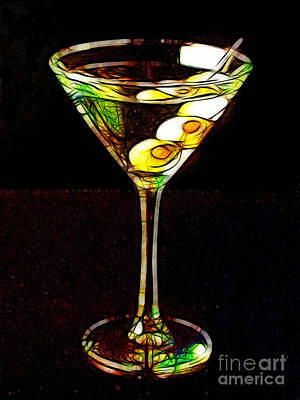 Martini Digital Art - Shaken Not Stirred by Wingsdomain Art and Photography
