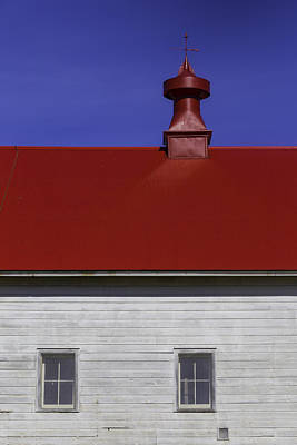 Weathervane Photograph - Shaker Red Roof by Garry Gay