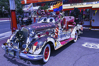 Shakes Automobile Print by Garry Gay