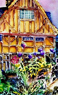 Stratford Mixed Media - Shakespeares Birth Place by Mindy Newman