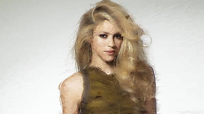 Shakira Digital Art - Shakira by Iguanna Espinosa