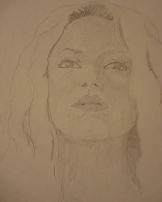 Shakira Drawing - Shakira by John  Bichler