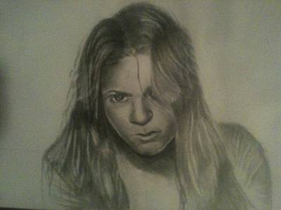 Shakira Drawing - Shakira by Jose  Lopez