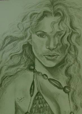 Shakira Drawing - Shakira by Sandra Valentini