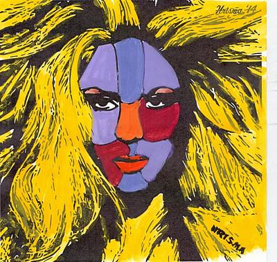 Shakira Mixed Media - Shakira by Zheni Mavromati