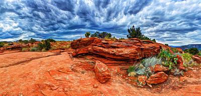Manipulation Photograph - Desert Storm by Bill Caldwell -        ABeautifulSky Photography