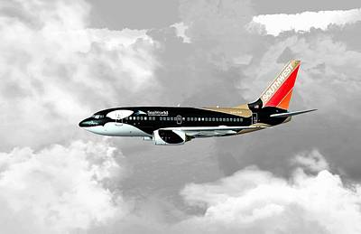 Airliners Digital Art - Shamu 01 by Mike Ray