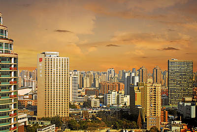 Sunset Photograph - Shanghai - Paris Of The East by Christine Till